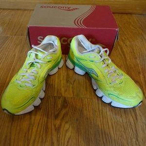Neon Saucony Propel Plus 2 Running Tennis Shoes